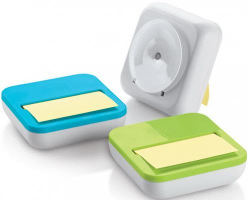 Диспенсер для бумаги для заметок Z-слож.POST-IT, 3 цв. в ассорт. + 1блок 76х76мм, желтый
