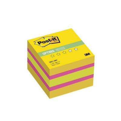 Бумага для заметок с липким слоем POST-IT OPTIMA-Лето 51х51 мм, желтая неоновая радуга, 400 листов 2051-ONY