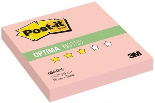Бумага с липким слоем 3M 100 листов 76x76 мм розовый 654-OPC