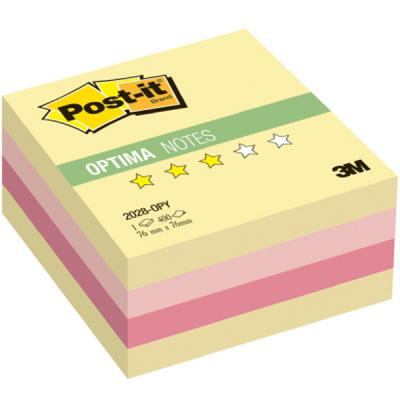 Набор стикеров с липким слоем 3M 400 листов 76x76 мм многоцветный