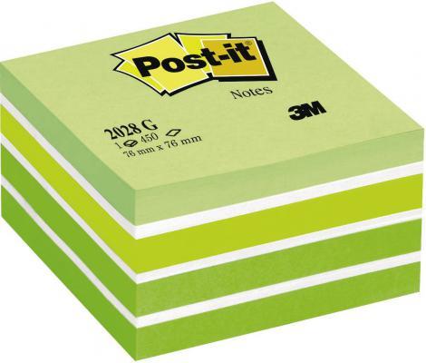 Бумага с липким слоем 3M 450 листов 76x76 мм зеленый 2028-G