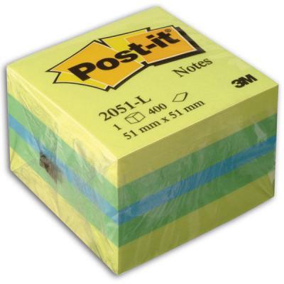 Бумага с липким слоем 3M 400 листов 51х51 мм желтый 2051-L