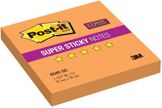 Бумага с липким слоем 3M 90 листов 76x76 мм оранжевый 654R-SO