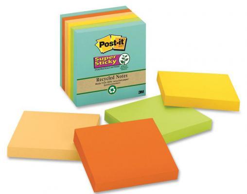 Набор стикеров с липким слоем 3M 90 листов 76x76 мм многоцветный 654-5SSNRP