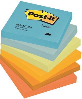 Бумага с липким слоем 3M 600 листов 76x76 мм многоцветный 654-MLBA