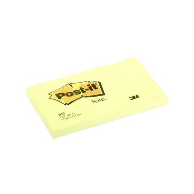 Бумага с липким слоем 3M 100 листов 127х76 мм желтый 655