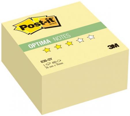 Бумага с липким слоем 3M 400 листов 76x76 мм желтый 636-OY