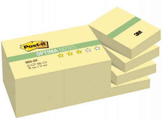 Бумага с липким слоем 3M 100 листов 51х38 мм желтый 653-OY