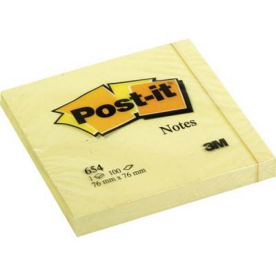 Бумага с липким слоем 3M 100 листов 76x76 мм желтый 6820