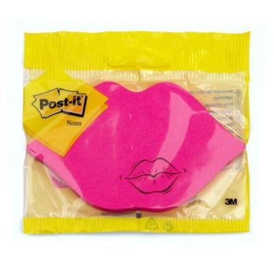 Блокнот фигурный POST-IT ГУБКИ, розовый, 122х70 мм, 75 л. 7500M