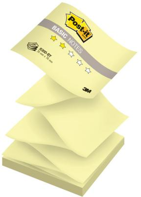 Набор стикеров с липким слоем 3M 100 листов 76x76 мм желтый