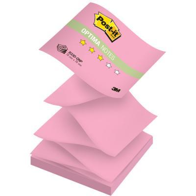 Бумага для заметок с липким слоем POST-IT OPTIMA -Осень, 76х76 мм, розовый неон, Z-слож., 100 л. R330-ONP бумага для заметок с клеевым краем post it optima весна 76 76мм 100л салатовый неон