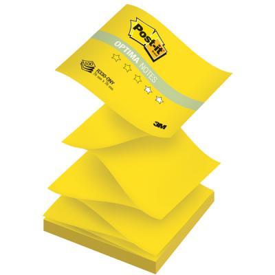 Бумага для заметок с липким слоем POST-IT OPTIMA -Лето, 76х76 мм,желтый неон, Z-слож., 100 л. R330-ONY