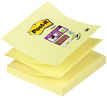 Бумага с липким слоем 3M 90 листов 76x76 мм желтый R330-SY