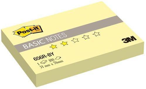 Бумага с липким слоем 3M 100 листов 51х76 мм желтый 656R-BY-RU