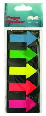 Бумага с липким слоем Global 125 листов 25х45 мм синий зеленый желтый красный розовый