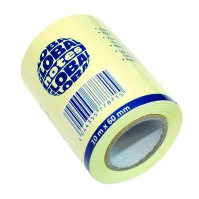 Бумага для заметок с липким слоем, разм. 60 мм х10 м, желтая, в роле, запасной блок для арт. 362401 362001
