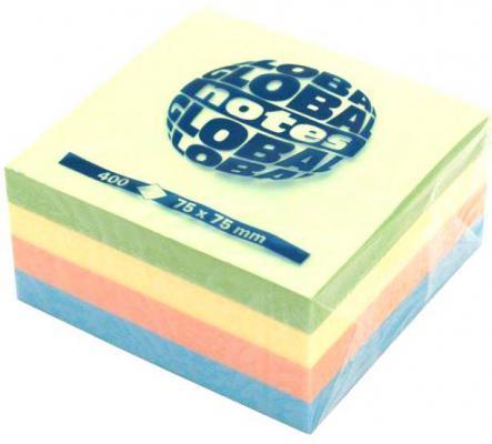 Бумага с липким слоем Global 400 листов 75х75 мм многоцветный РАДУГА 382098