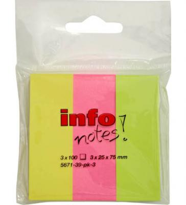 Стикер Global 300 листов 25х75 мм многоцветный 567139