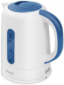 Чайник Rolsen RK-2723P 1850 Вт белый синий 1.7 л пластик