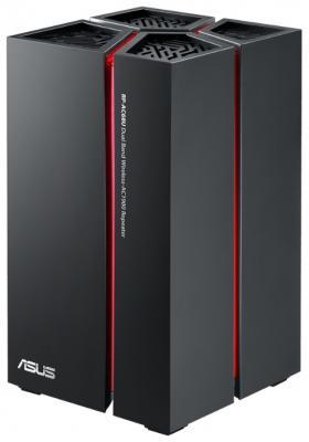 Маршрутизатор ASUS RP-AC68U 802.11acbgn 1300Mbps 5 ГГц 2.4 ГГц 5xLAN RJ-45 черный wi fi усилитель asus rp ac68u