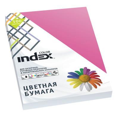 Бумага цветная Index Color, 100 листов, А4, розовый IC22/100