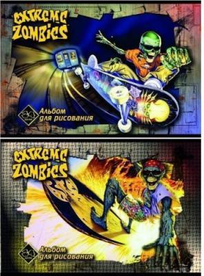 Альбом для рисования Action! EXTREME ZOMBIES A4 24 листа EZ-A-24-1 в ассортименте