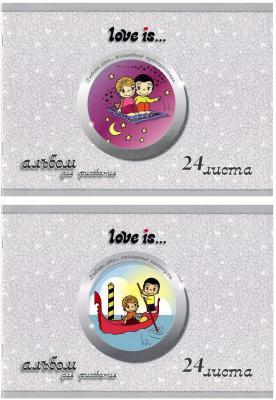 Альбом для рисования Action! LOVE IS A4 24 листа LI-AA-24 LI-AA-24