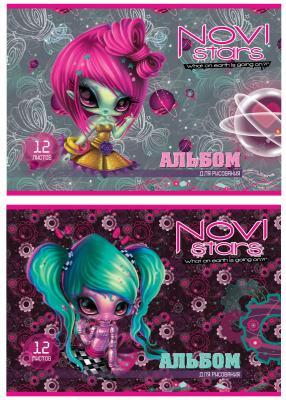 Альбом для рисования Action! Novi Stars A4 12 листов NS-AA-12 в ассортименте NS-AA-12 альбом для рисования action бумажки a4 12 листов bmk aa 12 в ассортименте