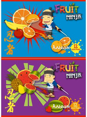 Альбом для рисования Action! Fruit Ninja A4 12 листов FN-AA-12 в ассортименте FN-AA-12 альбом для рисования action dc comics a4 40 листов dc aa 40 1 в ассортименте
