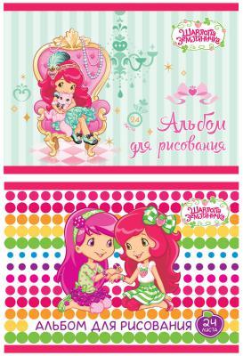 Альбом для рисования Action! Strawberry Shortcake A4 24 листа SW-AA-24 в ассортименте цветная бумага action strawberry shortcake a4 10 листов sw ctp 10 10 в ассортименте тонированная