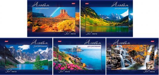 Альбом для рисования Хатбер Величественная природа A4 32 листа 028079 32А4В/ВП в ассортименте