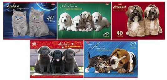 Купить Альбом для рисования Хатбер Маленькие друзья A4 40 листов 40А4В/МД 40A4B_16261 в ассортименте