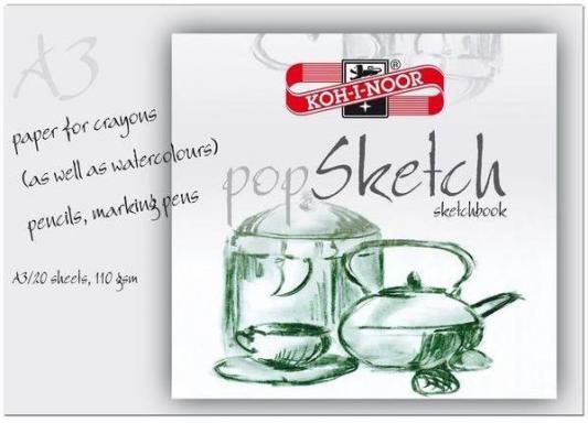 Папка для рисования Koh-i-Noor POP SKETCH A3 20 листов 9920010 9920010