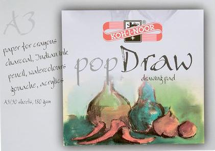 Папка для рисования Koh-i-Noor POP DRAW A3 30 листов 9920004 9920004 папка для акварели koh i noor pop aquarell a3 10 листов 9920003 9920003