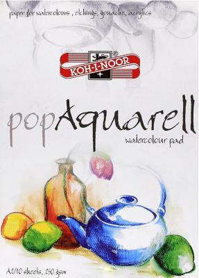 Папка для рисования Koh-i-Noor POP AQUARELL A4 10 листов 9920011 9920011