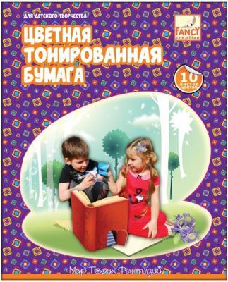 Цветная бумага Action! FCTP4-10/10 A4 10 листов двусторонняя бумага цветная 10 листов 10 цветов двухсторонняя shopkins