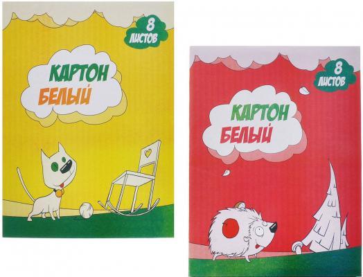 Набор белого картона Action! Милашки A4 8 листов AWP-8/8-3 в ассортименте