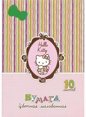 Цветная бумага Action! HELLO KITTY A4 10 листов HKO-ACCP-10/10 в ассортименте, мелованная