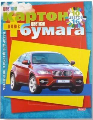 Набор цветного картона Хатбер АВТОПАНОРАМА A4 10 листов 023534 26НКБ4к 9571
