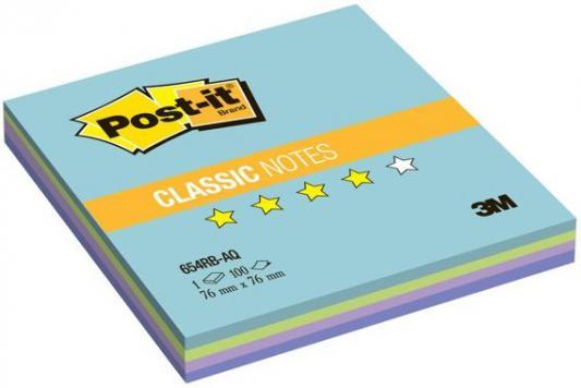 Бумага с липким слоем 3M 100 листов 76x76 мм многоцветный 654-RB-AQ