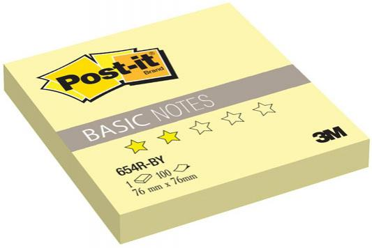 Бумага с липким слоем 3M 100 листов 76x76 мм желтый 654R-BY-RU*
