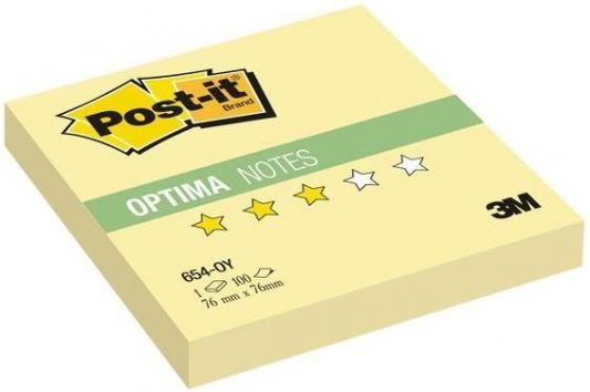 Бумага с липким слоем 3M 100 листов 76x76 мм желтый 654-OY