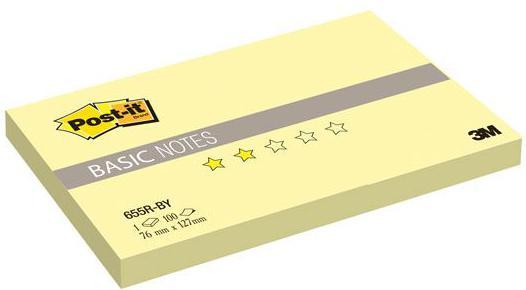 Набор стикеров с липким слоем 3M 100 листов 127х76 мм желтый