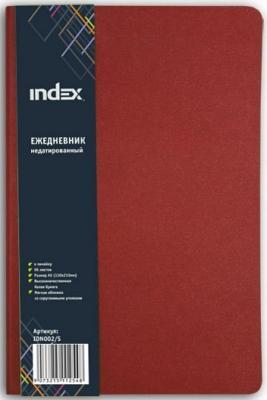 Ежедневник недатированный Index IDN002/S — искусственная кожа союз м искусственная кожа patina 340 екатеринбург