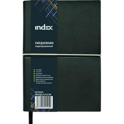 Ежедневник недатированный Index IDN003/S/A5/BK искусственная кожа kid s box 2ed 5 pupils bk