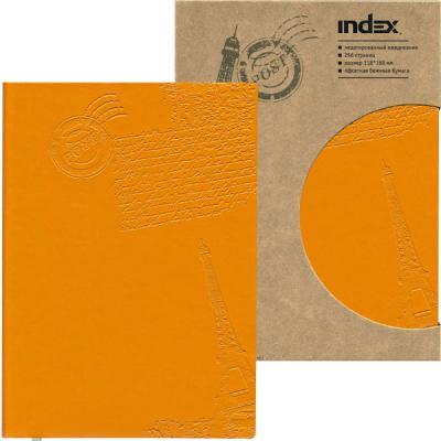 Ежедневник Paris, недатированный, интегральная обложка, А6, кожзам, оранжевый IDN111/A6/OR ежедневник эксмо а6 118 168 136л н датир in black бирюзовый интегральная обл к з