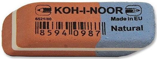 Ластик Koh-i-Noor BLUE STAR 1 шт прямоугольный 6521/80-84