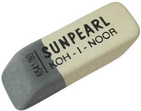Ластик Koh-i-Noor SUNPEARL 1 шт прямоугольный 6541/80-84