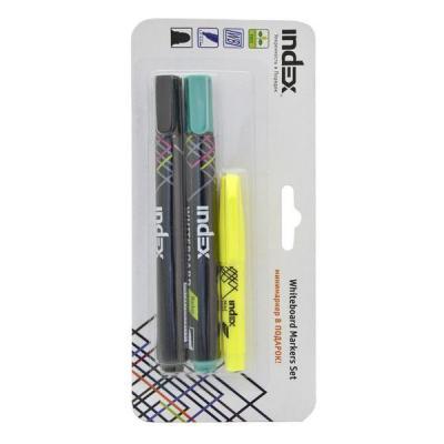 Набор маркеров для доски Index IMW540/2/P 4 мм 2 шт черный зеленый IMW540/2/P